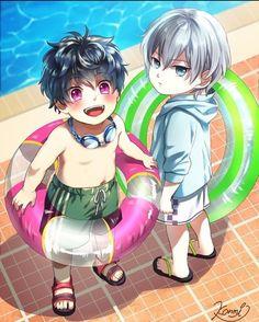 Source - Pixiv id = 65008517 Anime Siblings, Anime Child, Anime Love, Anime Guys, Bandai Namco Entertainment, Anime Friendship, Anime Qoutes, Anime Music, Cute Chibi