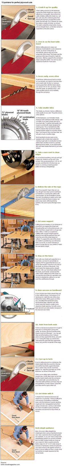 Table Saw Tips: 13 Pointers for Perfect Plywood Cuts Woodworking Workshop, Woodworking Jigs, Woodworking Projects, Woodworking Furniture, Wooden Furniture, Ideas Para Trabajar La Madera, Wood Crafts, Diy And Crafts, D Lab