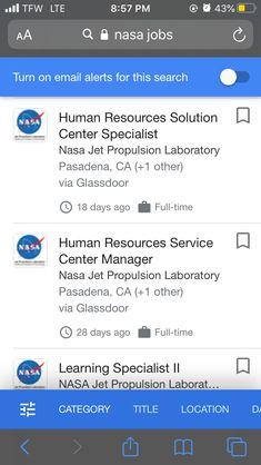 Hr Jobs, Human Resources, Nasa, Management
