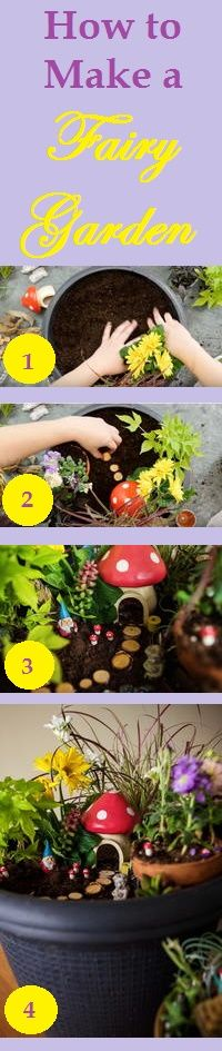 How to Make a Fairy Garden. Create a magical DIY fairy garden in your own backyard with this easy tutorial. From choosing the plants and flowers to adding whimsical decorations, you'll love this step-by-step video and guide.