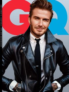 David in leather on the cover of GQ