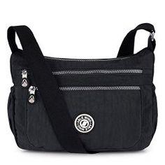 1f9d86592275 ABLE Women Anti Splash Water Shoulder Messenger Crossbody Bags (2-black)