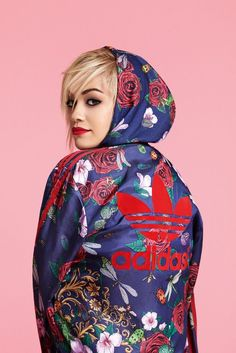 Adidas Originals. Floral Adidas Jacket. Urban Fashion. Sporty. Rita Ora Style