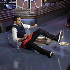 Zachary Levi had a bit of an accident. #TonightShow