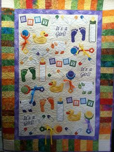 Adorable baby quilt for an adorable baby.