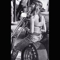 Hippie Girl On A Raked Out Trike
