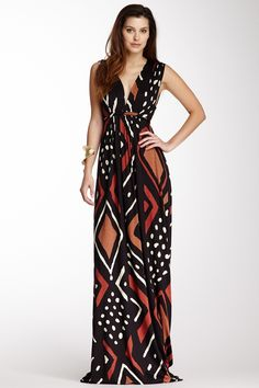 Sleeveless Caftan Maxi Dress