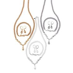Sunday's Best Pearlesque 3-Piece Gift Set. Avon. The lustrous look of pearls in three stunning colors. Necklace. Stretch bracelet, one size fits most. Available in Cream, Gray or Chocolate. Regularly $19.99.  NEW & NOW! FREE shipping with any $40 online Avon purchase.  #CJTeam #Avon #Style #Sale #Jewelry #Fashion #Necklace #Pearl #GiftSet #Gift #Christmas #StockingStuffer Shop Avon jewelry online @ www.thecjteam.com