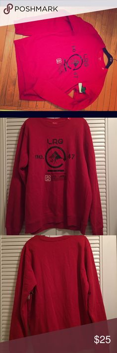 Men's LRG sweater new with tags Brand new sweater with tags. Feel free to send me a comment with any questions. We accept most offers.  Make a bundle for additional discounts Lrg Sweaters