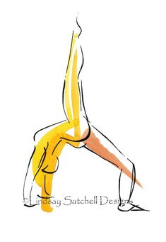 yoga art Loved and pinned by www.downdogboutique.com