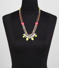 NEON STONE MULTI-CHAIN NECKLACE at Express #ExpressHoliday