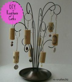 DIY Cork Keychains - View From The Fridge