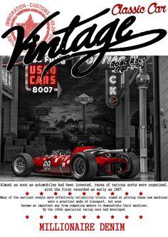 Old car ,vintage racer,desing