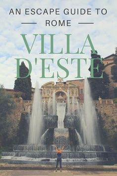 Take a break from Rome to Tivoli, Italy. The fountains of Villa D'este are stunning. Our guide to things to do in Tivoli- where to eat, where to stay, how to get here and around.
