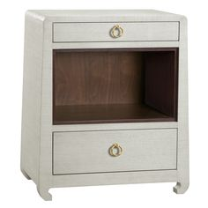 Foyer? Bungalow 5 Ming Natural 2-Drawer Side Table @Zinc_Door