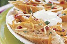 Platanos asados con queso y tocino
