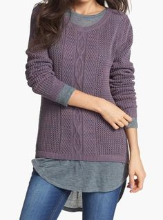 Cozy, cable knit sweater.