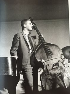 Iconic photo of Scott LaFaro at the 1961 Newport Jazz Festival // Photo by Jim Marshall