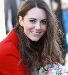 Kate Middleton smiles during a visit to the University of St. Andrews