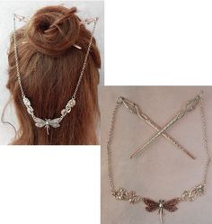 Dragonfly Hair Sticks, Dragonfly Beaded Hair Sticks, Barrette, Hair Pins, Chopsticks, Hair Jewelry, Hair Sticks w/ Chains, Dragonfly Jewelry Dragonfly Jewelry, Mermaid Jewelry, Mermaid Necklace, Moon Jewelry, Hair Jewelry, Whimsical Hair, Mermaid Pendant, Hair Beads, Hair Sticks