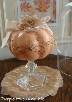 20 Dollar Store Pumpkin Makeovers 20 ideas to take those dollar store pumpkins from day glo orange styrofoam into so much more! Dollar Tree Pumpkins, Dollar Tree Decor, Dollar Tree Crafts, Dollar Tree Fall, Plastic Pumpkins, Pink Pumpkins, Fall Pumpkins, Thanksgiving Diy, Thanksgiving Decorations