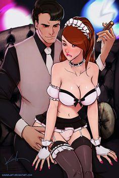 Crossdresser coimics the maid man censored Sissy Maid, Sissy Boy, Caricatures, Trans Art, Cd Art, Sexy Drawings, Sexy Cartoons, Tgirls, Erotic Art