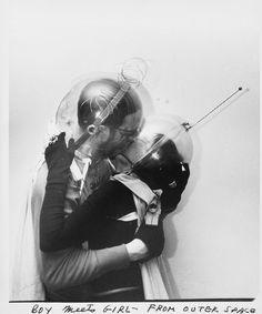 """Weegee, Boy meets girl – from Outer Space, 1955, NYC """