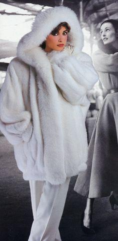 Winter white fur.
