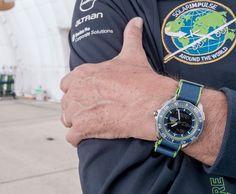 Andre Borschger and his OMEGA Speedmaster Skywalker X-33 Solar Impulse #omega #omegawatches #skywalker #watch #watches #solarimpulse #speedmaster #pilot #technology #aviation #plane #design #ecology