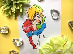 I'm redrawing Link and Roperi from The Legend Of Zelda - Oracle Of Seasons! White Gel Pen, Tombow, Mechanical Pencils, Faber Castell, Brush Pen, Gel Pens, Legend Of Zelda, Fanart, Let It Be