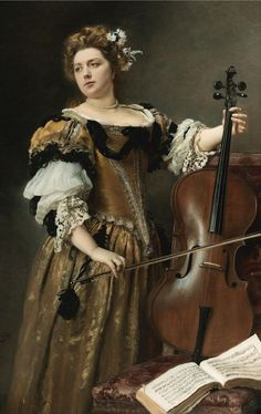 Gustave Jean Jacquet (1846-1909) — The Cello Player