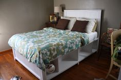 diy Full Bed Frame with Storage | ... make your bed pine amp plywood when i saw the plans for this bed i