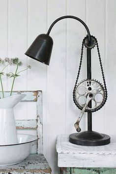 Lamp made with bike pedal and gears | How to Achieve an Industrial Style