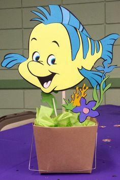 Little Mermaid birthday centerpiece -Flounder