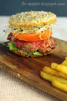 Jedz Fit - Bon Appétit!: Fit Burger - pokochany przez miłośnika fastfoodów