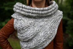 SALE!  Katniss inspired cowl vest armor shawl in the original gray MADE to ORDER