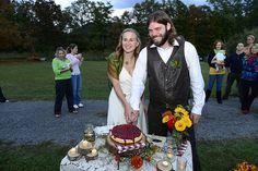 Stacey & Ben's family farm home-grown wedding | Offbeat Bride