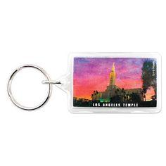Los Angeles California Temple Key Ring