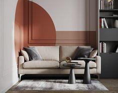 Interior Walls, Interior Design, Tv Stand Designs, Modern Art Deco, Serviced Apartments, Drawing Room, Comfort Zone, Adobe Photoshop, Interior Architecture