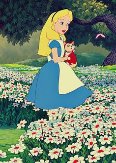 Alice in Wonderland Alice and Dinah #disney #aliceinwonderland