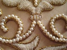 Gold Threads and Pearl Embroidery