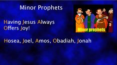 Great video with lots of cute mnemonics to memorize the Books of the Old Testament!  It goes just the right speed for kids to understand and learn.  My fave: I Just Love Every Day = Isaiah, Jeremiah, Lamentations, Ezekiel, Daniel.  Super help for all kids!
