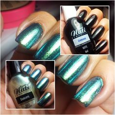 Preto Noite + Baile Cintilante - Passe Nati Manicure, Bright Summer Nails, Nail Polish, Make Up, Nail Art, Blog, Beautiful, Beauty, Nice Nails