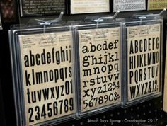 These are the new foam alphabet stamps in awesome fonts! These are going to be so great to use with Distress Paints.
