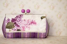 Lilac Candy Head Kiss Clasp Bag by BlueRabbitHandmade on Etsy