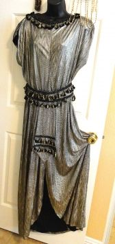 b5179fe1143 Gold And Black Vintage Cleopatra Costume Gown Dress  102