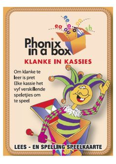 Learning sounds is fun with Phonix in a Box cards. Teach your child the Afrikaans phonic sounds while playing fun card games. Teaching Phonics, Preschool Learning, Fun Learning, Teaching Resources, Classroom Resources, Classroom Ideas, Phonics Cards, Emergent Literacy, Phonics Sounds