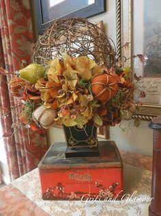 Grapevine Orb Fall Flower Arrangement