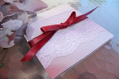 Lace Wedding Invitation Suite- The vintage lace on Silver / Burgundy / White on Etsy, 36,96 kr