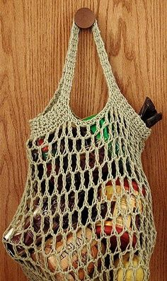 ECO FRIENDLY SHOPPING BAG Materials: • Around 150 Yards of Lily Sugar'n Cream Yarn • Size H or J Crochet Hook (Go with the J or la...